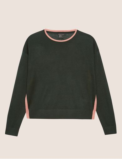 SPLIT-SIDE WOOL-BLEND SWEATER