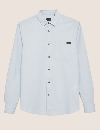 REGULAR-FIT MICROPRINT STRETCH SHIRT