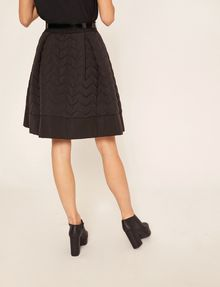ARMANI EXCHANGE ZIGZAG QUILTED ZIP-FRONT SKIRT Midi Skirt Woman e