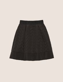 ARMANI EXCHANGE ZIGZAG QUILTED ZIP-FRONT SKIRT Midi Skirt Woman r