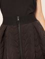 ARMANI EXCHANGE ZIGZAG QUILTED ZIP-FRONT SKIRT Midi Skirt Woman b