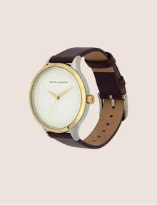 ARMANI EXCHANGE Uhr mit glattem Lederband Fashion Watch [*** pickupInStoreShipping_info ***] d