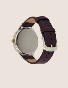 ARMANI EXCHANGE MINIMALIST BURGUNDY LEATHER BAND WATCH Fashion Watch Woman e