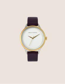 ARMANI EXCHANGE Uhr mit glattem Lederband Fashion Watch [*** pickupInStoreShipping_info ***] f