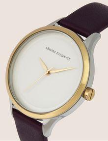 ARMANI EXCHANGE Uhr mit glattem Lederband Fashion Watch [*** pickupInStoreShipping_info ***] r