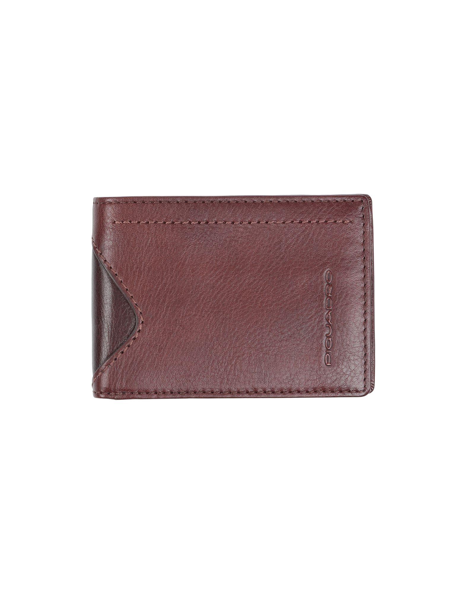 《送料無料》PIQUADRO メンズ 財布 ココア 牛革