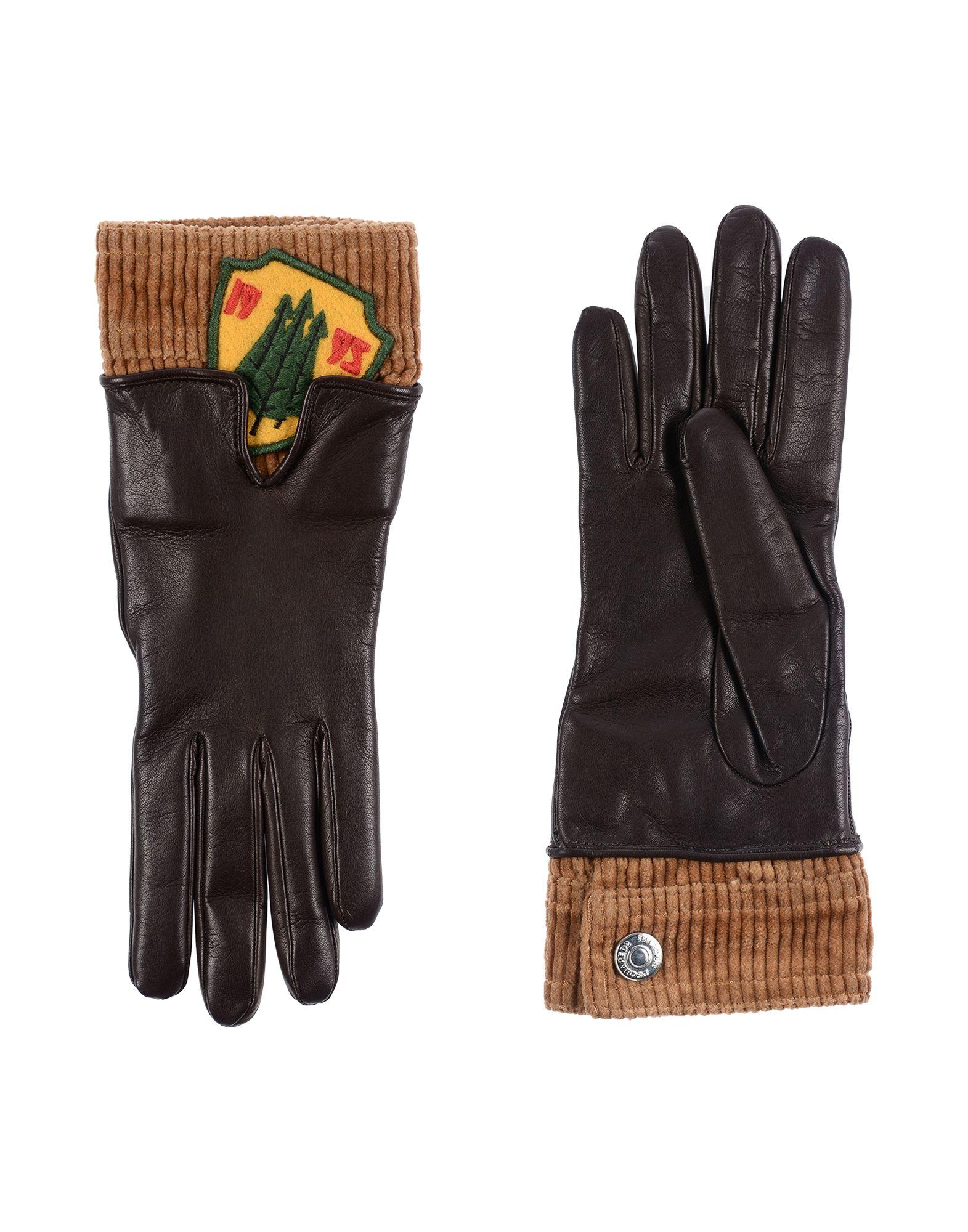 DSQUARED2 Damen Handschuhe Farbe Dunkelbraun Größe 3