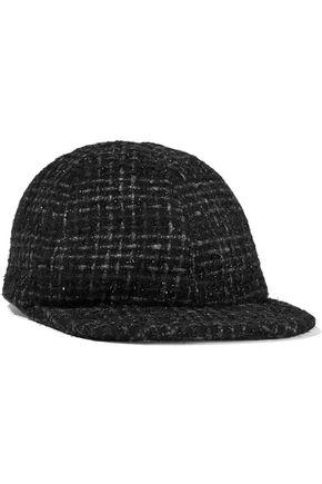 EUGENIA KIM Darien metallic tweed cap