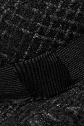 EUGENIA KIM Brigitte frayed metallic tweed fedora