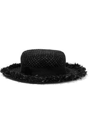 EUGENIA KIM ほつれ加工 メタリック ツイード ソフト帽