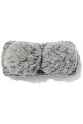 EUGENIA KIM Mies pompom-embellished cable-knit wool headband