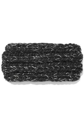 EUGENIA KIM Lula metallic cable-knit wool-blend headband