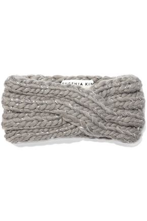 EUGENIA KIM Lula metallic cable-knit wool-blend headband