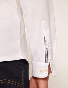 ARMANI EXCHANGE SLIM-FIT JERSEY BAND COLLAR SHIRT Plain Shirt [*** pickupInStoreShippingNotGuaranteed_info ***] b