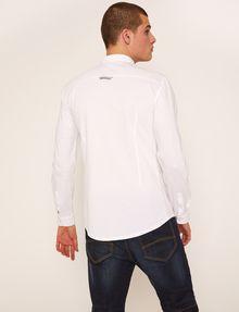ARMANI EXCHANGE SLIM-FIT JERSEY BAND COLLAR SHIRT Plain Shirt [*** pickupInStoreShippingNotGuaranteed_info ***] e