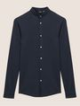 ARMANI EXCHANGE SLIM-FIT JERSEY BAND COLLAR SHIRT Plain Shirt Man r