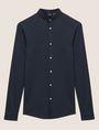 ARMANI EXCHANGE SLIM-FIT JERSEY BAND COLLAR SHIRT Plain Shirt [*** pickupInStoreShippingNotGuaranteed_info ***] r