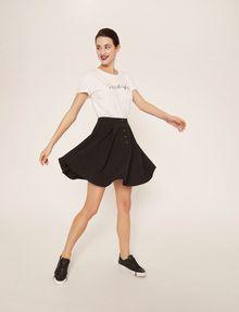 ARMANI EXCHANGE CUTOUT ADJECTIVE CREW Graphic T-shirt Woman a