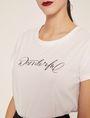 ARMANI EXCHANGE CUTOUT ADJECTIVE CREW Graphic T-shirt Woman b