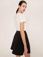 ARMANI EXCHANGE CUTOUT ADJECTIVE CREW Graphic T-shirt Woman e