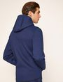 ARMANI EXCHANGE DEBOSSED LOGO BONDED ZIP-UP HOODIE Fleece Jacket Man e