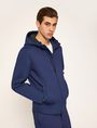 ARMANI EXCHANGE DEBOSSED LOGO BONDED ZIP-UP HOODIE Fleece Jacket Man f