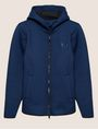ARMANI EXCHANGE DEBOSSED LOGO BONDED ZIP-UP HOODIE Fleece Jacket Man r