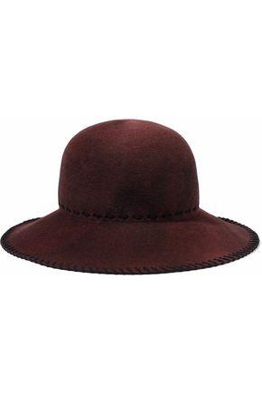 EUGENIA KIM Blake whipstitched wool-felt hat