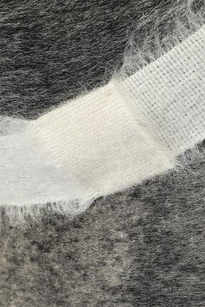 EUGENIA KIM Bianca brushed woven-trimmed wool-felt fedora