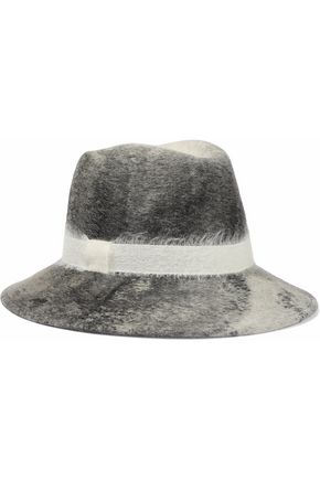 EUGENIA KIM Bianca brushed woven-trimmed wool-felt fedora