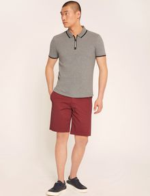 ARMANI EXCHANGE LOGO TAPE QUARTER-ZIP POLO SHORT SLEEVES POLO Man d