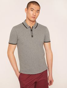 ARMANI EXCHANGE LOGO TAPE QUARTER-ZIP POLO SHORT SLEEVES POLO Man f