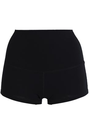 ANA HEART Metallic printed stretch shorts
