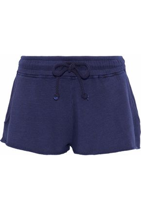 ANA HEART Romeo cotton and modal-blend terry shorts