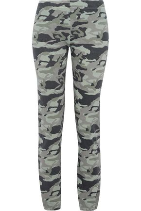 MONROW Printed terry track pants