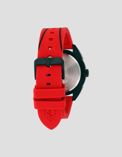 Scuderia Ferrari Online Store - Forza watch in black with red strap -