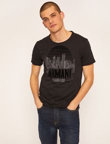ARMANI EXCHANGE REGULAR-FIT CITYSCAPE SUNSET CREW Logo T-shirt [*** pickupInStoreShippingNotGuaranteed_info ***] f