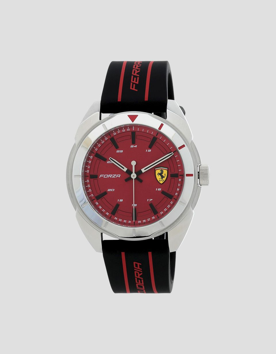 Scuderia Ferrari Online Store - Forza steel watch with red dial - Quartz Watches
