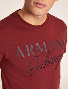 ARMANI EXCHANGE SLIM-FIT EMBROIDERED SCRIPT CREW Logo T-shirt [*** pickupInStoreShippingNotGuaranteed_info ***] b