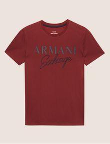 ARMANI EXCHANGE SLIM-FIT EMBROIDERED SCRIPT CREW Logo T-shirt [*** pickupInStoreShippingNotGuaranteed_info ***] r