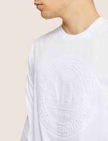 ARMANI EXCHANGE REGULAR-FIT CIRCLE LOGO LAYERING CREW Logo T-shirt [*** pickupInStoreShippingNotGuaranteed_info ***] b
