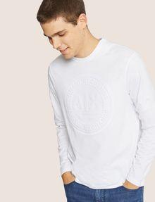 ARMANI EXCHANGE REGULAR-FIT CIRCLE LOGO LAYERING CREW Logo T-shirt [*** pickupInStoreShippingNotGuaranteed_info ***] f