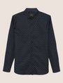 ARMANI EXCHANGE SLIM-FIT LOGO MICRODOT STRETCH SHIRT Long sleeve shirt Man r