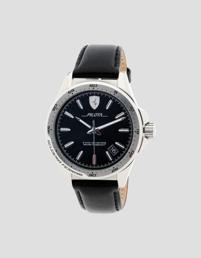 Pilota watch with black dial