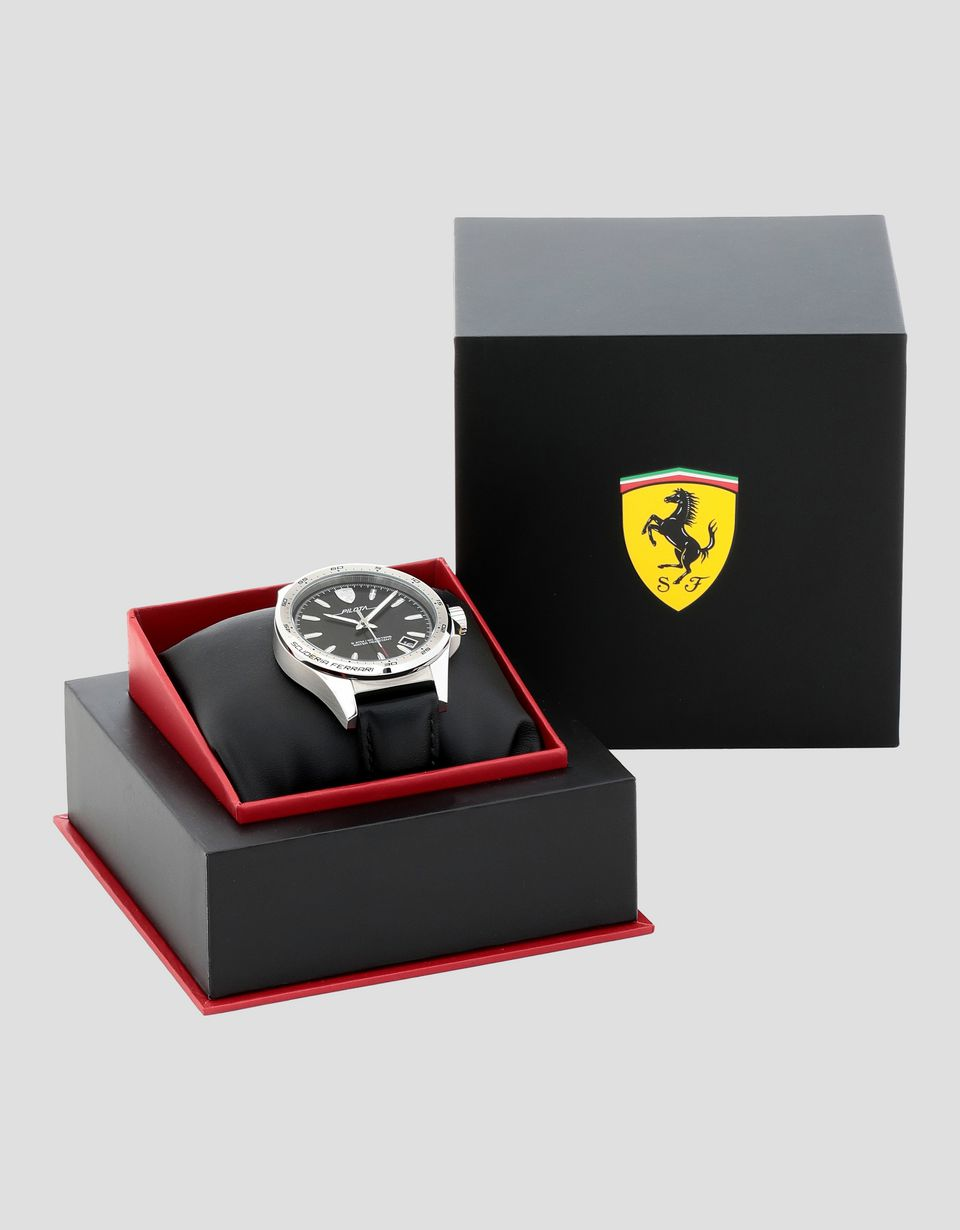 Scuderia Ferrari Online Store - Pilota watch with black dial - Quartz Watches