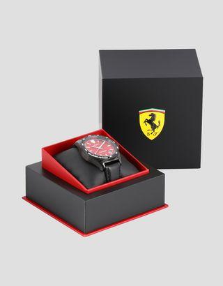 Scuderia Ferrari Online Store - Чёрные наручные часы Pilota с красным циферблатом - Кварцевые часы