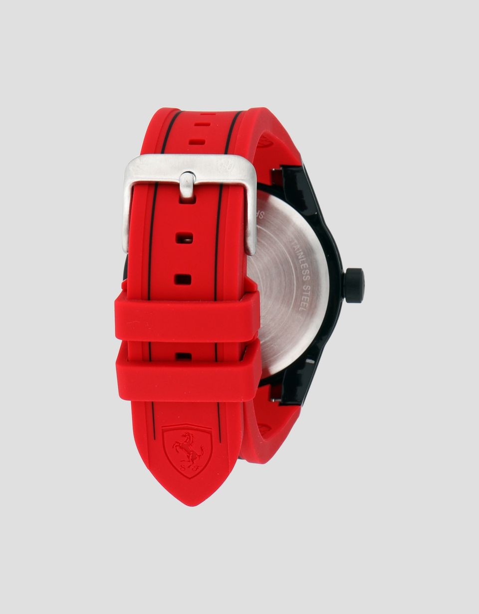 Scuderia Ferrari Online Store - RedRev watch in black with red strap - Quartz Watches