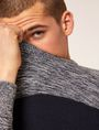 ARMANI EXCHANGE COLORBLOCKED MARLED YARN SWEATER Crew Neck [*** pickupInStoreShippingNotGuaranteed_info ***] a