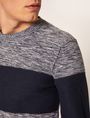 ARMANI EXCHANGE COLORBLOCKED MARLED YARN SWEATER Crew Neck [*** pickupInStoreShippingNotGuaranteed_info ***] b