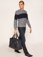 ARMANI EXCHANGE COLORBLOCKED MARLED YARN SWEATER Crew Neck [*** pickupInStoreShippingNotGuaranteed_info ***] d